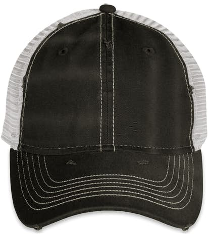 Sportsman Dirty-Washed Trucker Hat - Black / Silver