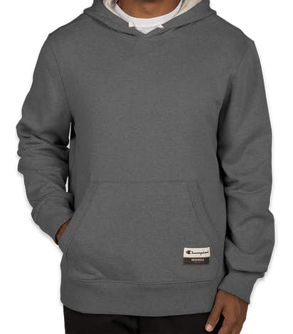 Champion Authentic Sueded Pullover Hoodie  - Charcoal Heather