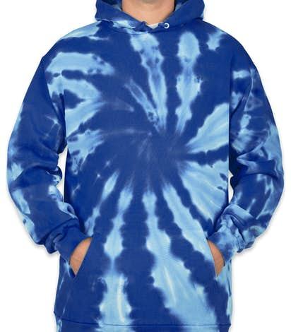 Port & Company Tie-Dye Pullover Hoodie - Royal