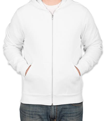 Bella + Canvas Ultra Soft Zip Hoodie - White
