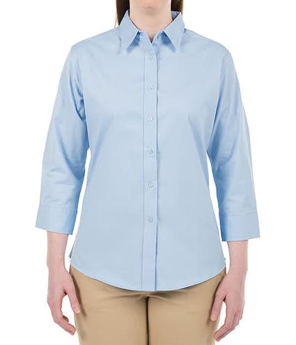 176ea7ec8 Port Authority Women's 3/4 Sleeve Easy Care Twill Shirt - Other View: 3