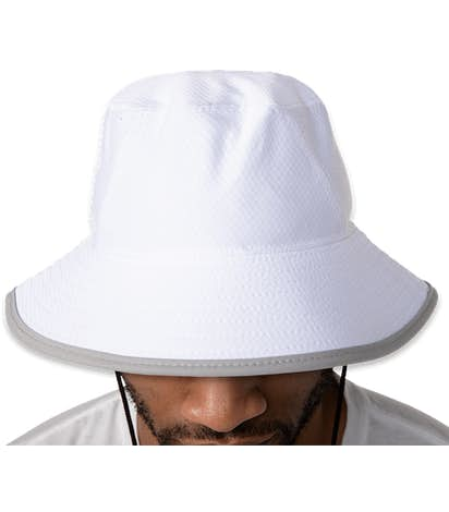 New Era Hex Era Bucket Hat - White / Rainstorm Grey
