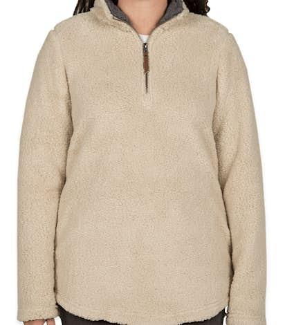 Charles River Women's Newport Fuzzy Fleece Pullover - Sand