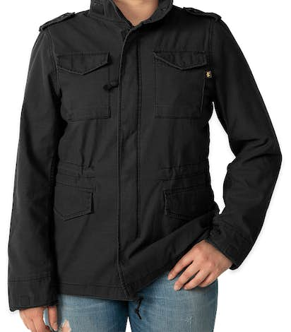 Alpha Industries Women's M-65 Defender Jacket - Black