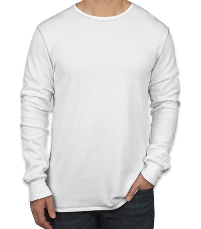 Bella + Canvas Long Sleeve Thermal - White / Grey