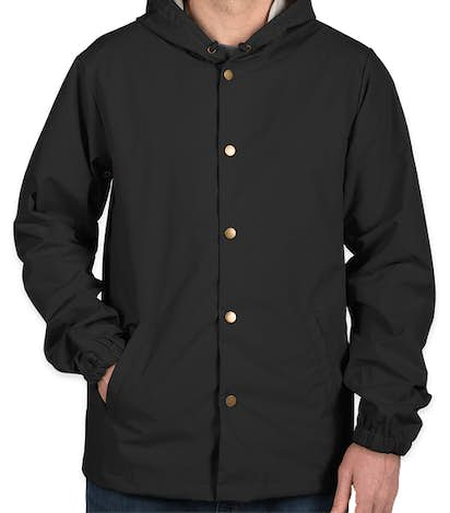 Independent Trading Hooded Coaches Jacket - Black