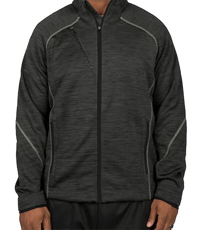 North End Melange Tech Fleece Lined Jacket - Carbon / Black