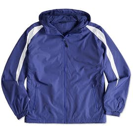 Sport-Tek Fleece Lined Colorblock Hooded Jacket