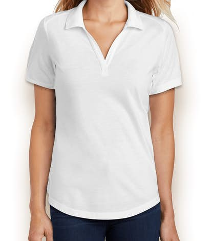 Sport-Tek Women's Tri-Blend Performance Polo - White