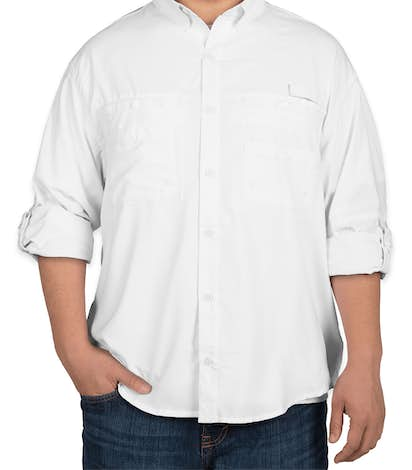 Hilton Long Sleeve Performance Fishing Shirt - White