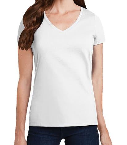 Port & Company Women's Fan Favorite V-Neck T-shirt - White