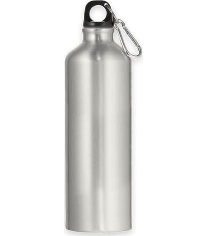 26 oz. Aluminum Water Bottle with Matching Carabiner - Silver
