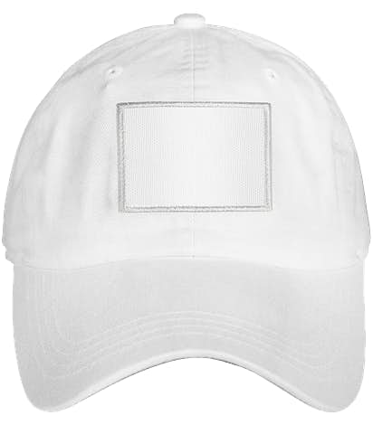 Ahead Rectangle Patch Baseball Hat - True White