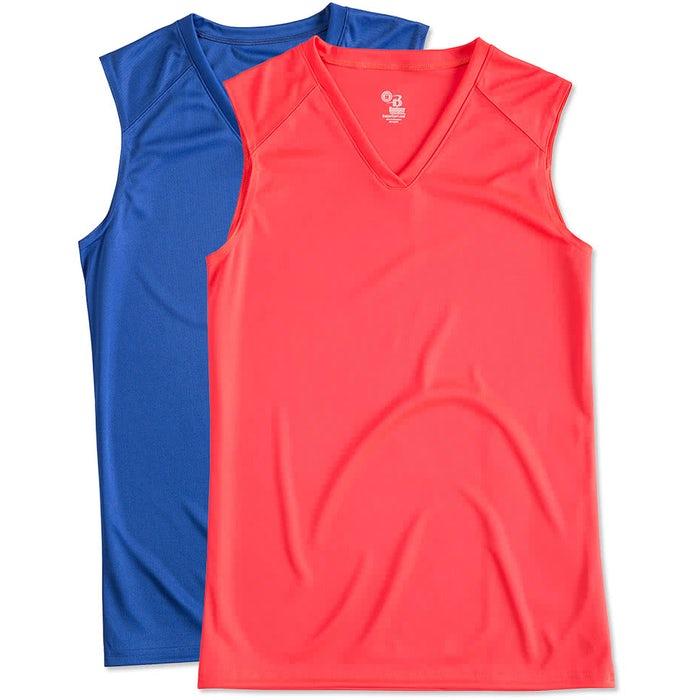 6b21e447fc010 Custom Badger B-Dry Women s Sleeveless Performance Shirt - Design ...