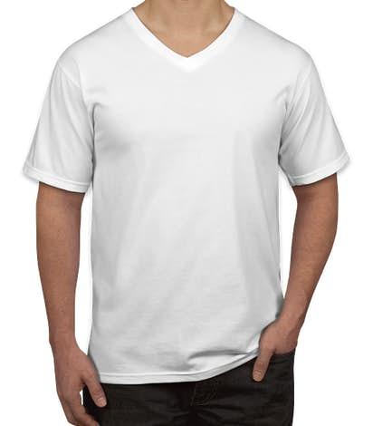 Anvil Jersey V-Neck T-shirt - White