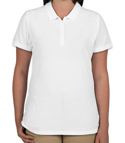 Port Authority Women's Lightweight Classic Pique Polo - White