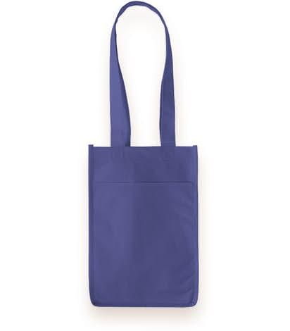 Four Bottle Non-Woven Wine Bag - Royal Blue