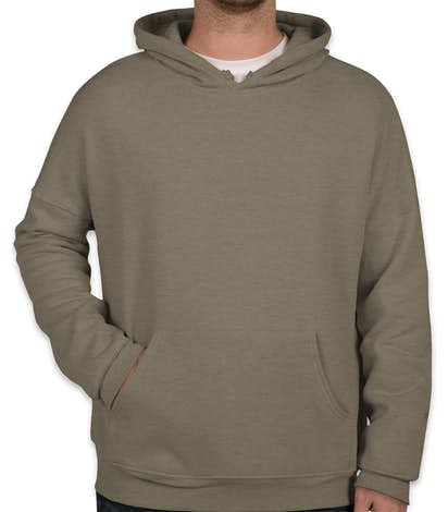 Bella + Canvas Ultra Soft Drop Shoulder Pullover Hoodie - Heather Stone
