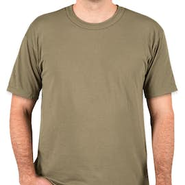 Soffe Military 50/50 USA T-shirt - Color: Tan