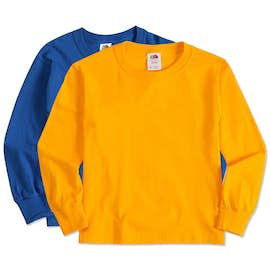 Fruit of the Loom Youth 100% Cotton Long Sleeve T-shirt