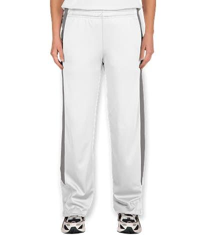 Team 365 Women's Performance Warm-Up Pant - White / Sport Graphite