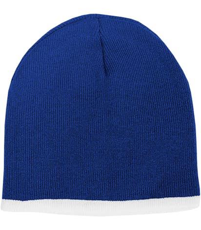 Sportsman Bottom Stripe Knit Hat - Royal / White