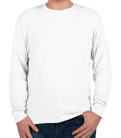 99721311 Custom Hanes X-Temp Long Sleeve T-shirt - Design Performance Blend T ...