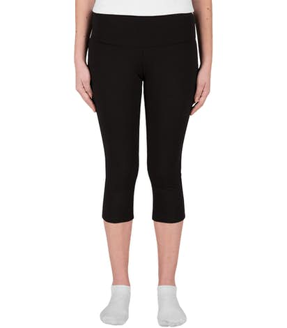 Bella + Canvas Juniors Capri Pant - Black