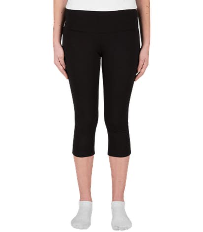 Bella + Canvas Women's Capri Legging - Black