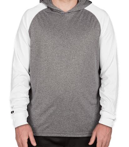 Holloway Ultra Lightweight Hooded Performance Shirt - Graphite Heather / White