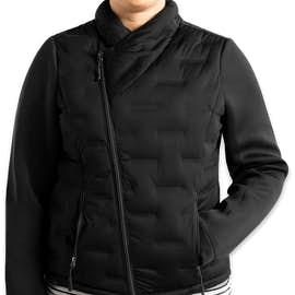 North End Women's Pioneer Hybrid Puffer Jacket - Color: Black