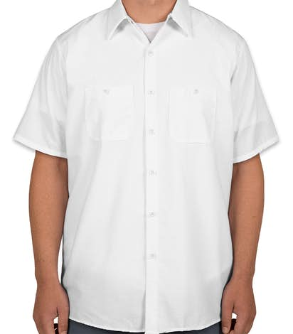 Red Kap® Industrial Work Shirt - White