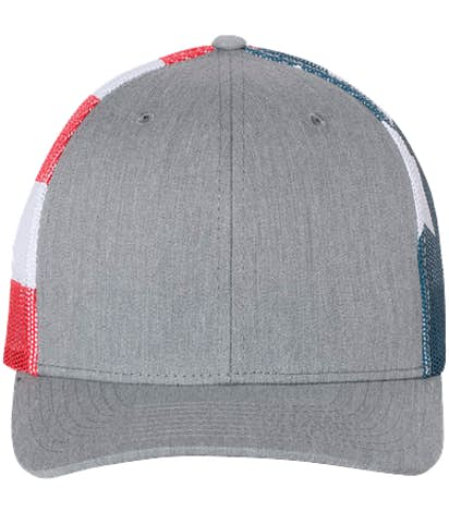 Richardson American Flag Trucker Hat - Heather Grey / Flag