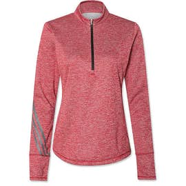 Adidas Women's Brushed Terry Heather Quarter Zip Pullover