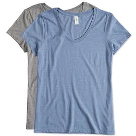 District Made Women's Tri-Blend V-Neck T-shirt