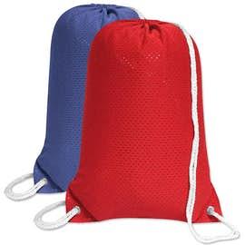 Jersey Mesh Drawstring Bag