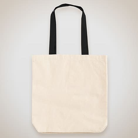 6c76a7768b Midweight Contrast Handles Cotton Canvas Tote Bag – Natural   Black