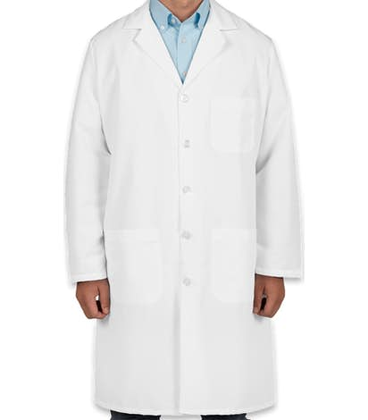 Red Kap® Full Button Lab Coat - White