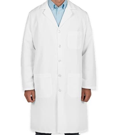Red Kap® Full Button Lab Coat - White