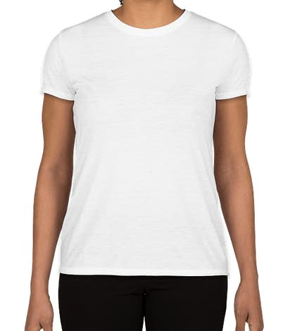 Gildan Women's Soft Jersey Performance Shirt - White