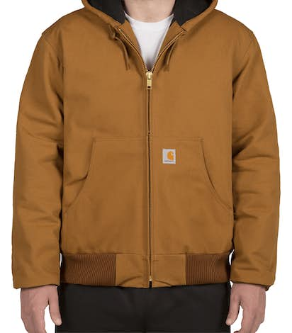 Carhartt Water Repellent Flannel Lined Hooded Jacket - Carhartt Brown