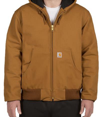 Carhartt Water Repellent Flannel Lined Hooded Jacket - Carhartt Brown
