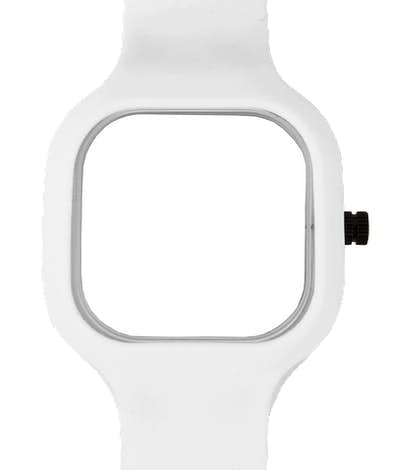 Sport Watch with Silicone Band - White Face / White Band