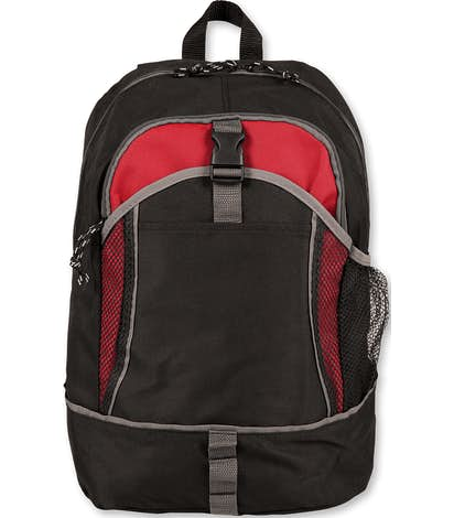 Basic Backpack - Black / Red