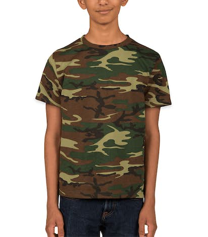 Code 5 Youth Camo T-shirt - Green Woodland