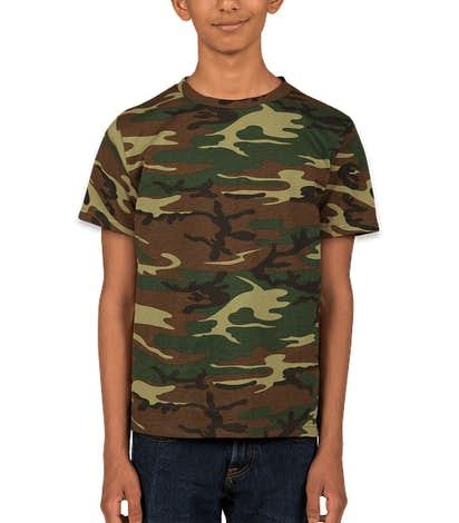Code 5 Youth Camo T-shirt - Green Woodland