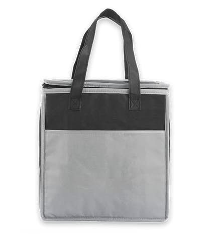 Insulated Non-Woven Grocery Tote - Gray