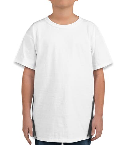 Hanes Youth 100% Cotton T-shirt - White