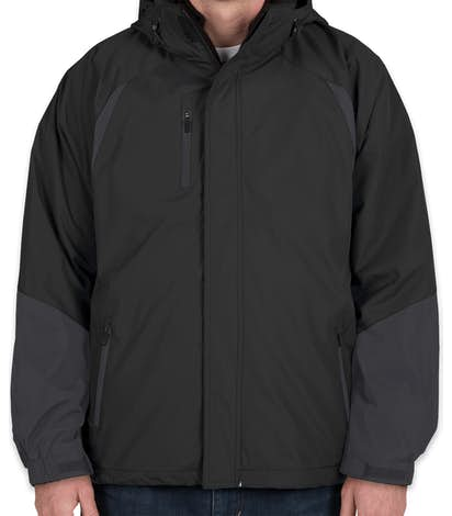 Ultra Club 3-in-1 Colorblock Hooded System Jacket - Black / Slate