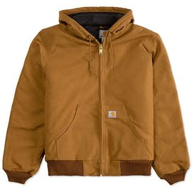 Carhartt Water Repellent Flannel Lined Hooded Jacket
